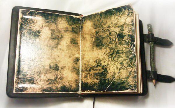 """Книга для записей из кожи. По мотивам фильма """"Фонтан""""."""