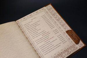 Папка меню кожаная для ресторана