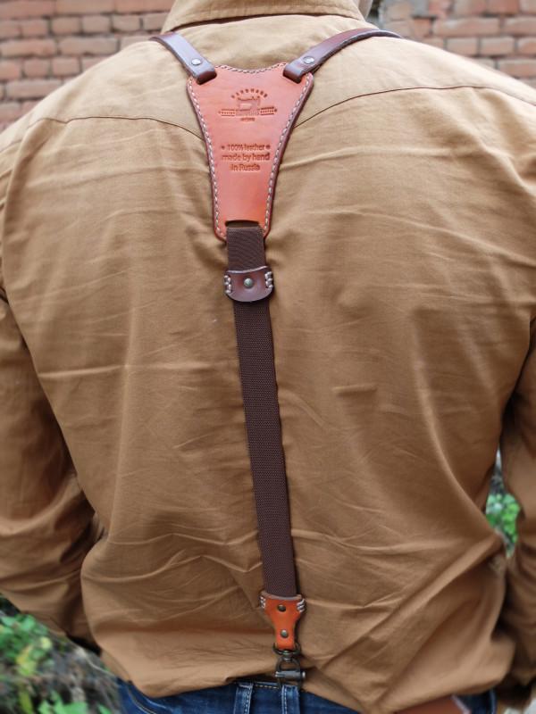 Подтяжки кожаные «Верн».
