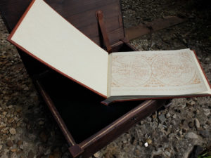 Винтажный фотоальбом в старинном сундуке