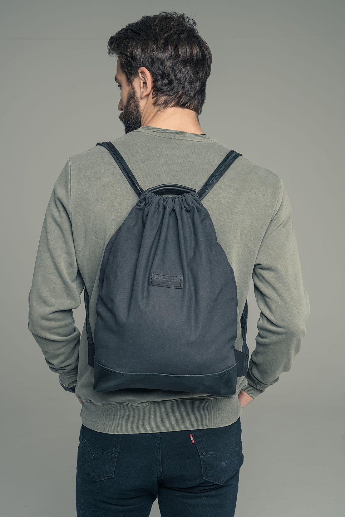 Кожаный рюкзак-сумка Dex-Tex.