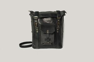 Кожаная сумка-рюкзак.