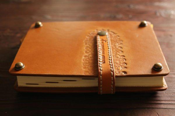 Кулинарная книга с кожаной ложкой