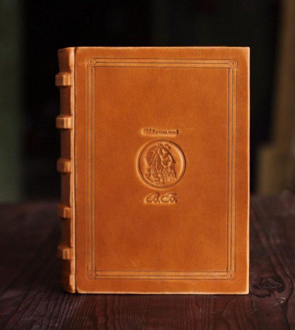 Книга записная «Посейдон» из кожи
