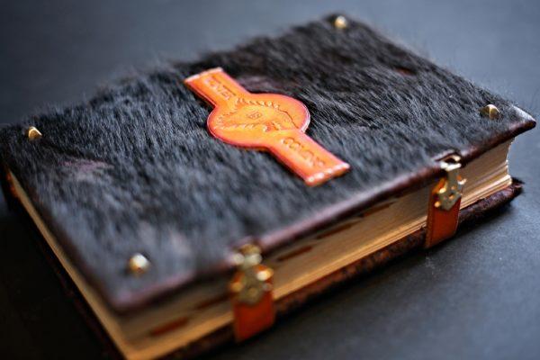 Книга по сериалу «Игра Престолов» из кожи