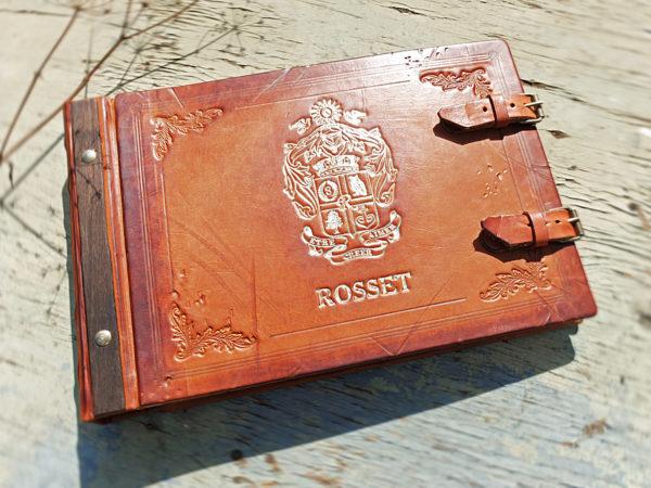 Кожаный фотоальбом фамильный Rosset