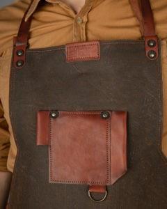 Фартук со вставками из кожи для столяра «Apron-Tex lite»