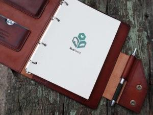 Ежедневник-органайзер с логотипом компании.