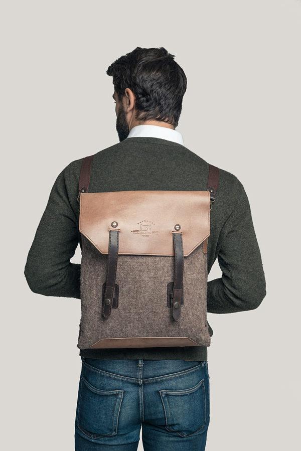 Кожаная сумка-рюкзак Coolwool.