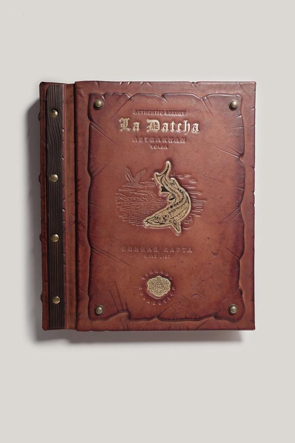 Кожаная папка меню «La datcha».