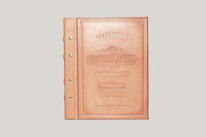 Кожаный альбом для монет и старинных денег.