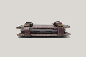 Кожаный органайзер со сменным блоком на металлических кольцах.
